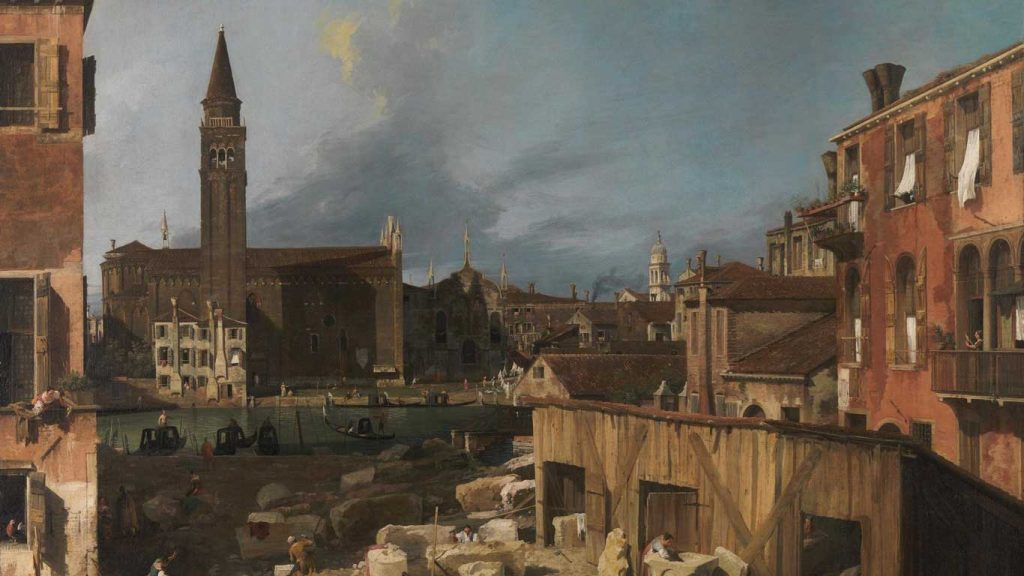The back streets of 18th century Venice by Canaletto.